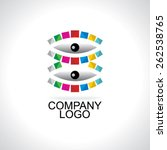 business logo concept idea with ... | Shutterstock .eps vector #262538765