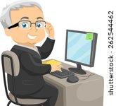 illustration of a senior... | Shutterstock .eps vector #262544462