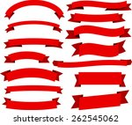 set of red banners and ribbons. ... | Shutterstock .eps vector #262545062