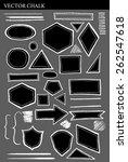 set of vector chalk shapes... | Shutterstock .eps vector #262547618