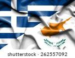 Waving Flag Of Cyprus And Greece