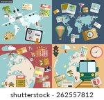 flat design style modern vector ... | Shutterstock .eps vector #262557812