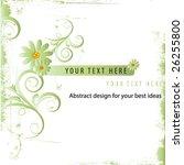 abstract flower design | Shutterstock .eps vector #26255800