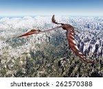 Pterosaur Quetzalcoatlus...