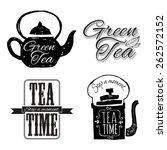 set of labels on theme tea. tea ... | Shutterstock .eps vector #262572152