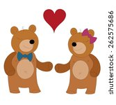 bears in love vector... | Shutterstock .eps vector #262575686