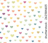 seamless pattern with colorful... | Shutterstock . vector #262584605