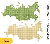 map of russia vector... | Shutterstock .eps vector #262592006