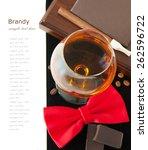 brandy  cigar  book and coffee...   Shutterstock . vector #262596722