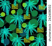 vector pattern with hand drawn... | Shutterstock .eps vector #262608032