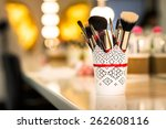 Brushes For Make Up On The Table