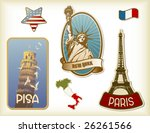 collection of detailed vintage... | Shutterstock .eps vector #26261566