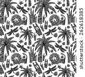 children's seamless pattern... | Shutterstock .eps vector #262618385