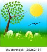 easter vector illustration | Shutterstock .eps vector #26262484