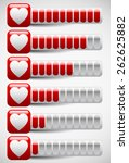 meters with heart shapes for... | Shutterstock .eps vector #262625882