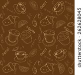 vector chocolate  seamless... | Shutterstock .eps vector #262628045