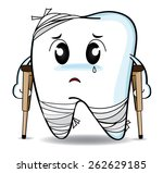 cute cartoon decay tooth or...   Shutterstock .eps vector #262629185