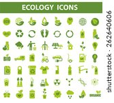 56 green ecology vector icons... | Shutterstock .eps vector #262640606