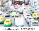 Blur Traffic Jam With Bokeh...
