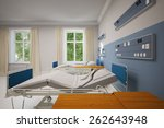 double room in a hospital with...   Shutterstock . vector #262643948