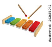 illustration of xylophone on a... | Shutterstock .eps vector #262658042