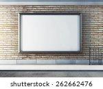 horizontal blank billboard on...   Shutterstock . vector #262662476