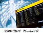 check in  airport departure  ... | Shutterstock . vector #262667342