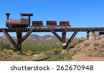 Old Wild West Train With Mining ...