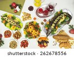 lots of traditional festive... | Shutterstock . vector #262678556