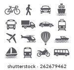 transport icons  | Shutterstock .eps vector #262679462
