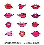 vector set of illustration... | Shutterstock .eps vector #262681526