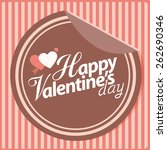 happy valentines day sticker... | Shutterstock .eps vector #262690346