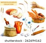 watercolor bread collection... | Shutterstock . vector #262694162