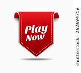 play now red vector icon design | Shutterstock .eps vector #262694756