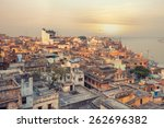 a view of varanasi and ganga... | Shutterstock . vector #262696382