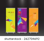 set of modern colorful roll up... | Shutterstock .eps vector #262704692