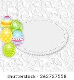 beautiful easter egg background ... | Shutterstock .eps vector #262727558