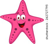 cute starfish cartoon | Shutterstock .eps vector #262727795