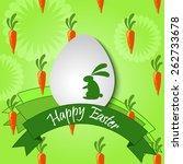happy easter card. | Shutterstock .eps vector #262733678