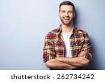 happy young man. portrait of... | Shutterstock . vector #262734242