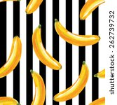 bananas watercolor pattern ... | Shutterstock .eps vector #262739732