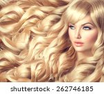 beauty blonde woman portrait.... | Shutterstock . vector #262746185