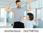 strong and healthy. happy... | Shutterstock . vector #262748762