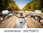 biker driving a motorcycle... | Shutterstock . vector #262752872