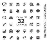 pet icons set.   Shutterstock .eps vector #262765106