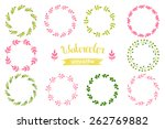 watercolor set of wreaths