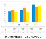 report with graph of investment ... | Shutterstock .eps vector #262769972