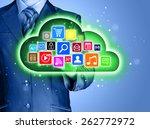 cloud computing touchscreen... | Shutterstock . vector #262772972