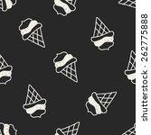 ice cream doodle drawing... | Shutterstock .eps vector #262775888
