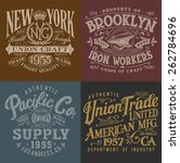 vintage workwear graphics set | Shutterstock .eps vector #262784696